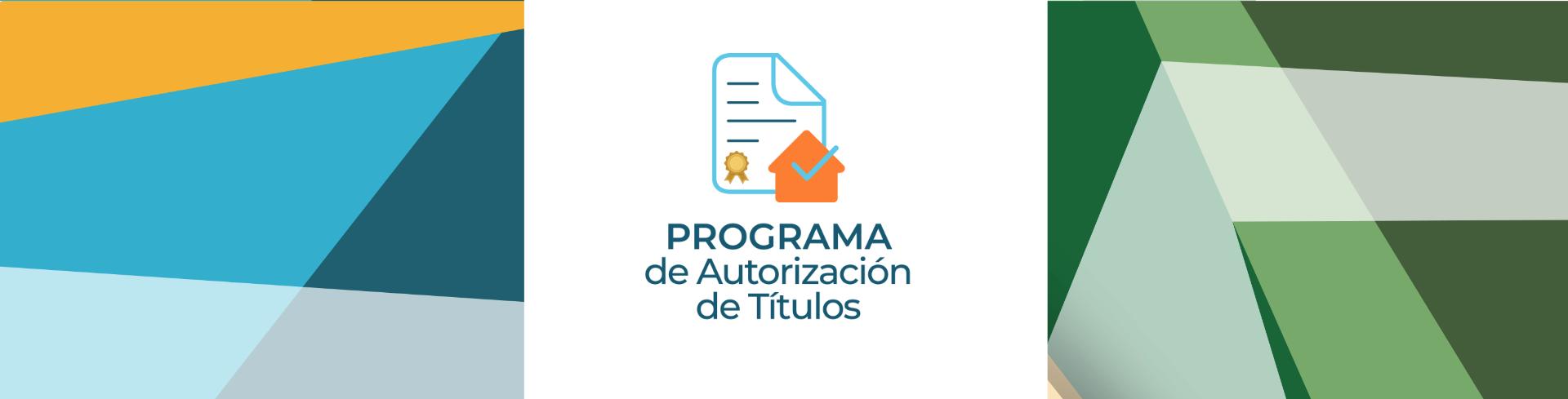 Programa de Autorización de Títulos